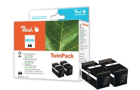 Peach  Twin Pack Ink Cartridge black HC compatible with ID-Fabricant: No. 934XL, C2P23AE HP OfficeJet Pro 6230