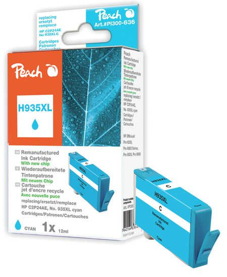 Peach  Ink Cartridge cyan HC compatible with ID-Fabricant: No. 935XL, C2P24AE HP OfficeJet Pro 6230