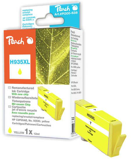 Peach  Ink Cartridge yellow HC compatible with ID-Fabricant: No. 935XL, C2P26AE HP OfficeJet Pro 6230