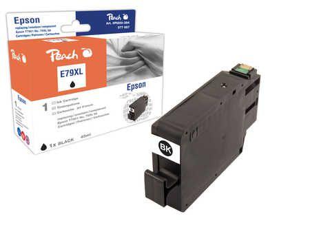 Peach Cartouche d'encre  HY noir, compatible avec ID-Fabricant: No. 79XL, T7901 Epson WorkForce Pro WF-5110 DW