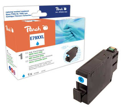 Peach  Ink Cartridge XXL cyan, compatible with ID-Fabricant: No. 79XXL, T7892 Epson WorkForce Pro WF-5110 DW