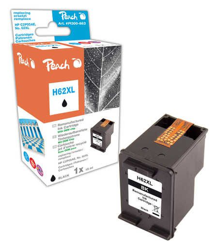 Peach  Print-head black compatible with ID-Fabricant: No. 62XL, C2P05E HP Envy 5661 e-All-in-One