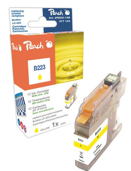 Peach Cartouche d'encre  jaune, compatible avec ID-Fabricant: LC-223, LC-223Y Brother MFCJ 4425 DW