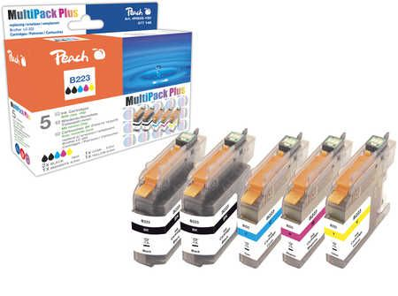 Peach  Multi Pack Plus with chip, compatible with ID-Fabricant: LC-223 series Brother MFCJ 480 DW