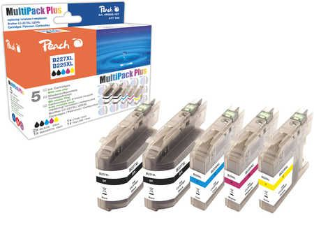 Peach Multipack Plus  compatible avec ID-Fabricant: LC-227XL, LC-225XL Brother MFCJ 4425 DW