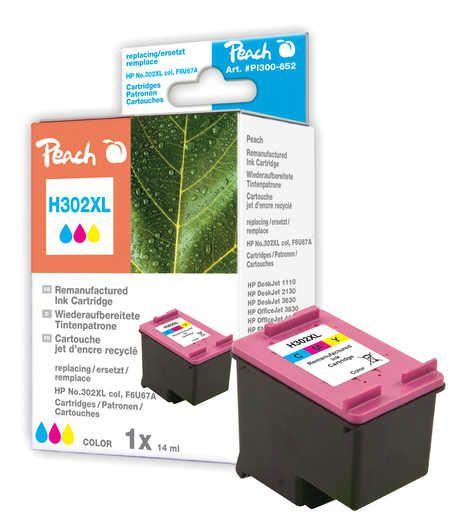 Peach Tête d'impression  couleur, compatible avec ID-Fabricant: No. 302XL col, F6U67A HP DeskJet 3630 Series