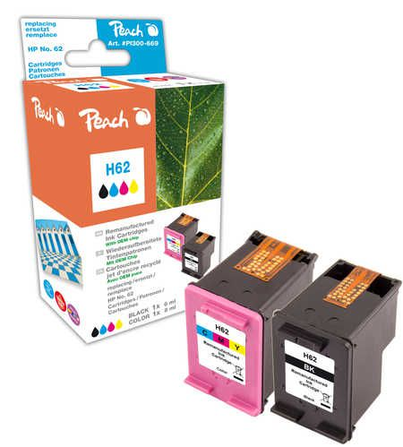 Peach  Multi Pack compatible with ID-Fabricant: No. 62, C2P04AE, C2P06AE HP Envy 5661 e-All-in-One