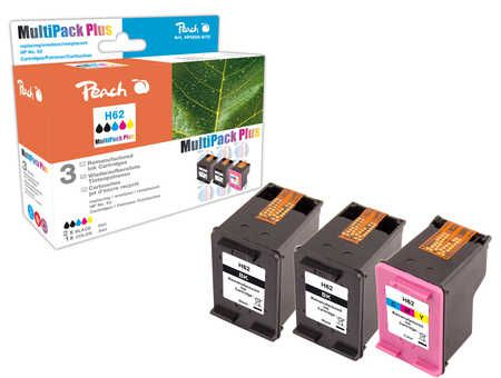 Peach  Multi Pack Plus compatible with ID-Fabricant: No. 62, C2P04AE, C2P06AE HP Envy 5661 e-All-in-One