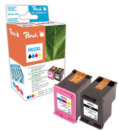 Peach  Multi Pack compatible with ID-Fabricant: No. 62XL, C2P05AE, C2P07AE HP Envy 5661 e-All-in-One