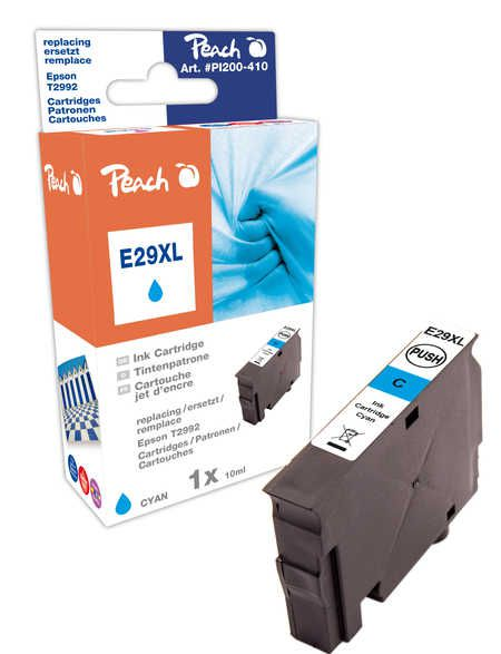 Peach  Ink Cartridge XLcyan, compatible with ID-Fabricant: No. 29XL, T2992 Epson Expression Home XP-452