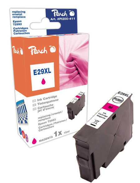 Peach  cartouche d'encre XL magenta, compatible avec ID-Fabricant: No. 29XL, T2993 Epson Expression Home XP-452