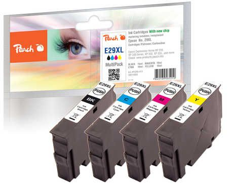 Peach  Multi Pack, XL compatible with ID-Fabricant: No. 29XL, T2996 Epson Expression Home XP-452
