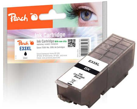 Peach  Ink Cartridge XL black, compatible with ID-Fabricant: No. 33XL, T3351 Epson Expression Premium XP-830