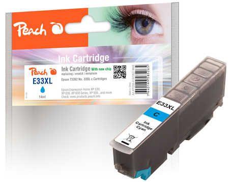 Peach  cartouche d'encre XL cyan, compatible avec ID-Fabricant: No. 33XL, T3362 Epson Expression Premium XP-830
