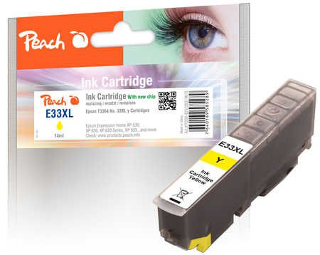 Peach  Ink Cartridge XL yellow, compatible with ID-Fabricant: No. 33XL, T3364 Epson Expression Premium XP-830