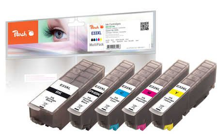 Peach  Multi Pack, XL compatible with ID-Fabricant: No. 33XL, T3357 Epson Expression Premium XP-830