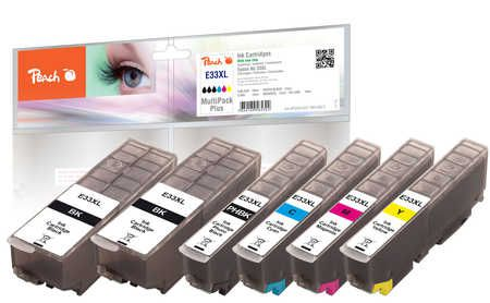 Peach  Multi Pack Plus, XL compatible with ID-Fabricant: No. 33XL, T3357 Epson Expression Premium XP-830