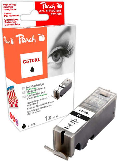 Peach  Ink Cartridge XL black, compatible with ID-Fabricant: PGI-570XL bk Canon Pixma TS 6050 Series