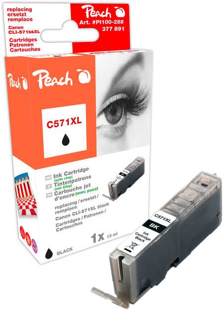 Peach  Ink Cartridge XL photoblack black, compatible with ID-Fabricant: CLI-571XL bk Canon Pixma TS 6050 Series