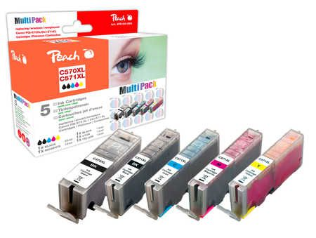Peach  Multi Pack, XL compatible with ID-Fabricant: PGI-570XL, CLI-571XL Canon Pixma TS 6050 Series