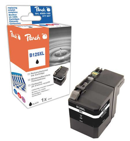 Peach  Ink Cartridge black XXL, compatible with ID-Fabricant: LC-129XL Brother MFCJ 6520 DW