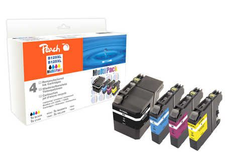 Peach Multipack , compatible avec ID-Fabricant: LC-129XL, LC-125XL Brother MFCJ 6520 DW
