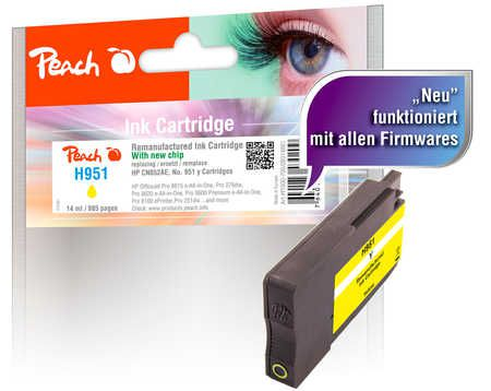 Peach  Ink Cartridge yellow compatible with ID-Fabricant: No. 951, CN052AE HP OfficeJet Pro 251 dw
