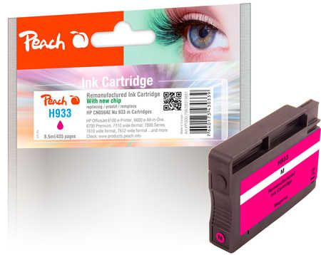 Peach  cartouche d'encre magenta compatible avec ID-Fabricant: No. 933, CN059AE HP OfficeJet 6700 Premium