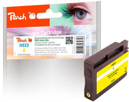 Peach  Ink Cartridge yellow compatible with ID-Fabricant: No. 933, CN060AE Epson Stylus Photo R 2880