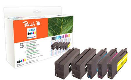 Peach  Combi Pack Plus compatible avec ID-Fabricant: No. 953 HP OfficeJet Pro 7720