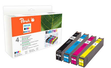 Peach  Combi Pack compatible with ID-Fabricant: No. 913A HP PageWide Pro 450 Series
