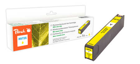 Peach  Ink Cartridge yellow HC compatible with ID-Fabricant: No. 973X, F6T83AE HP PageWide Pro 450 Series