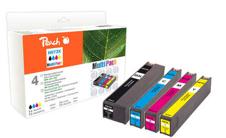 Peach  Combi Pack compatible with ID-Fabricant: No. 973X HP PageWide Pro 450 Series