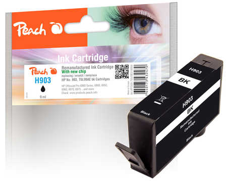 Peach  Ink Cartridge black compatible with ID-Fabricant: No. 903, T6L99AE HP OfficeJet Pro 6975