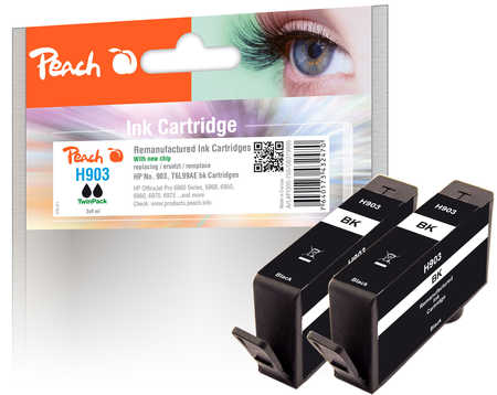 Peach  Twin Pack Ink Cartridge black compatible with ID-Fabricant: No. 903, T6L99AE HP OfficeJet Pro 6975