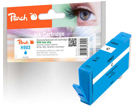 Peach  Ink Cartridge cyan compatible with ID-Fabricant: No. 903, T6L87AE HP OfficeJet Pro 6975