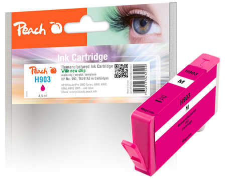 Original Peach Ink Cartridge magenta compatible with ID-Fabricant: No. 903, T6L91AE HP OfficeJet Pro 6975