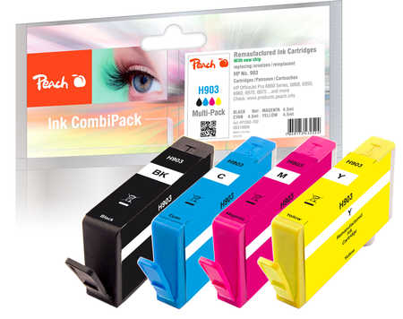 Peach  Combi Pack compatible with ID-Fabricant: No. 903 HP OfficeJet Pro 6975