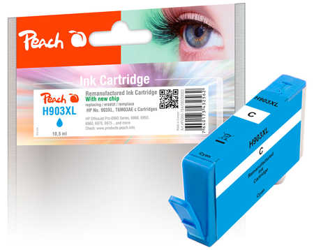 Peach  Ink Cartridge cyan HC compatible with ID-Fabricant: No. 903XL, T6M03AE HP OfficeJet Pro 6975