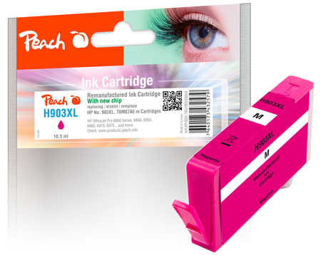 Peach  Ink Cartridge magenta HC compatible with ID-Fabricant: No. 903XL, T6M07AE HP OfficeJet Pro 6975