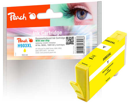 Peach  Ink Cartridge yellow HC compatible with ID-Fabricant: No. 903XL, T6M11AE HP OfficeJet Pro 6975
