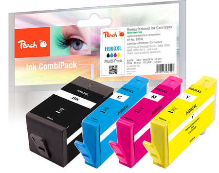 Peach  Combi Pack compatible with ID-Fabricant: No. 903XL HP OfficeJet Pro 6975