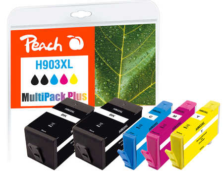 Peach  Combi Pack Plus compatible with ID-Fabricant: No. 903XL HP OfficeJet Pro 6975